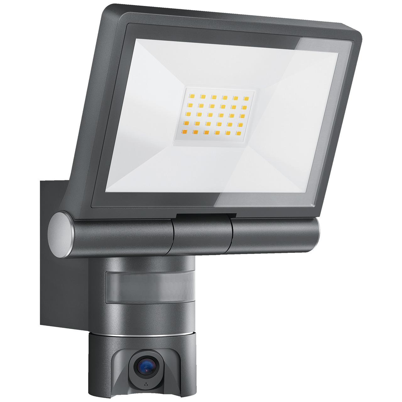 Steinel 21-W-LED-Strahler-Kameraleuchte XLED CAM 1- mit HD-Kamera- App-Zugriff
