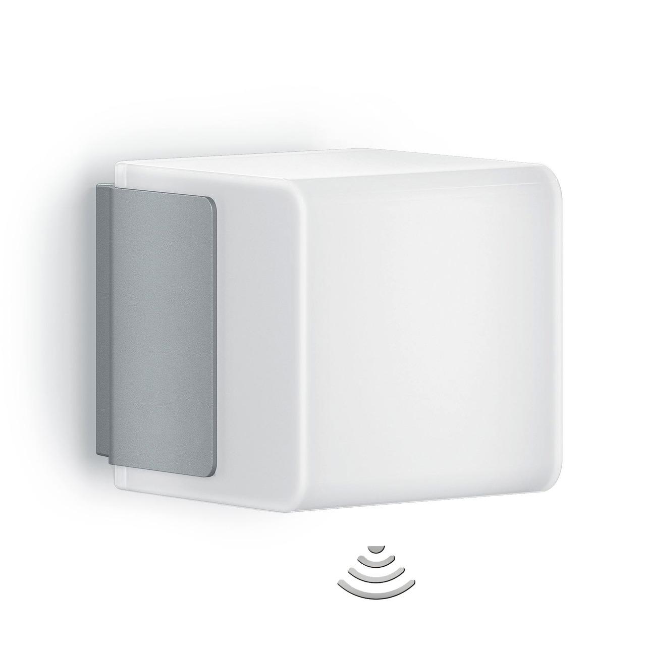 Steinel L 835 LED iHF Sensor-LED-Wandleuchte mit HF-Bewegungsmelder- per App einstellbar- silber