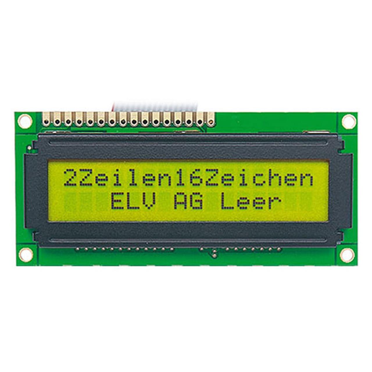 STN-LCD-Anzeigemodul- 2 x 16 Zeichen