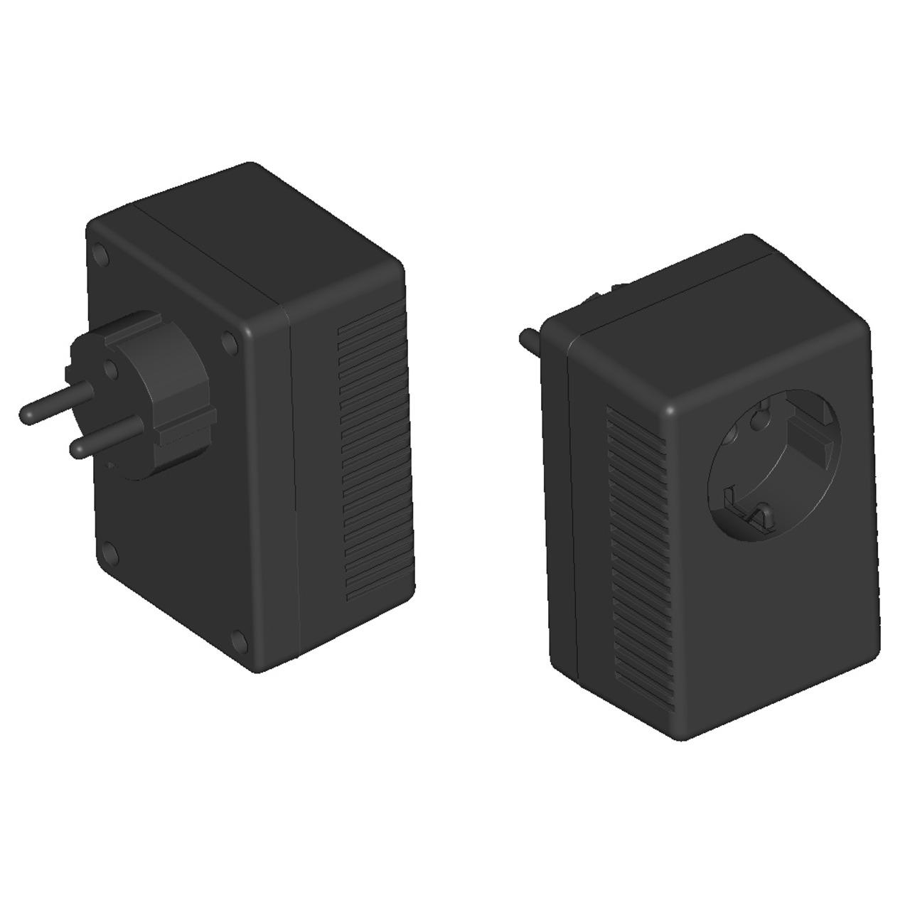 Strapubox Stecker-Gehäuse SG 922 ABS 95-5 x 63 x 53 mm- schwarz