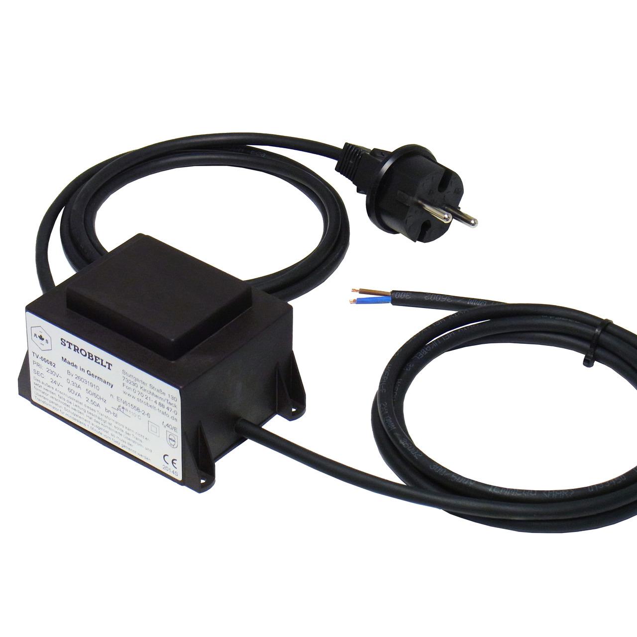Strobelt Sicherheitstransformator 60 VA- 230V- 50-60 Hz- SEC 24V AC- vergossen in Gehäuse- IP44
