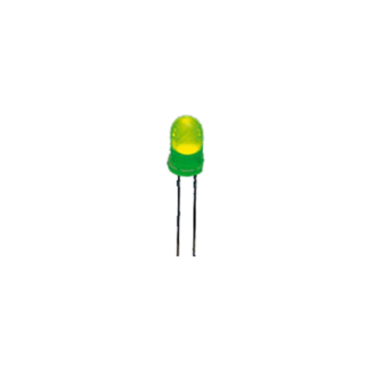 Superhelle 3 mm LED- Grün- 6-500 mcd- 10er-Pack