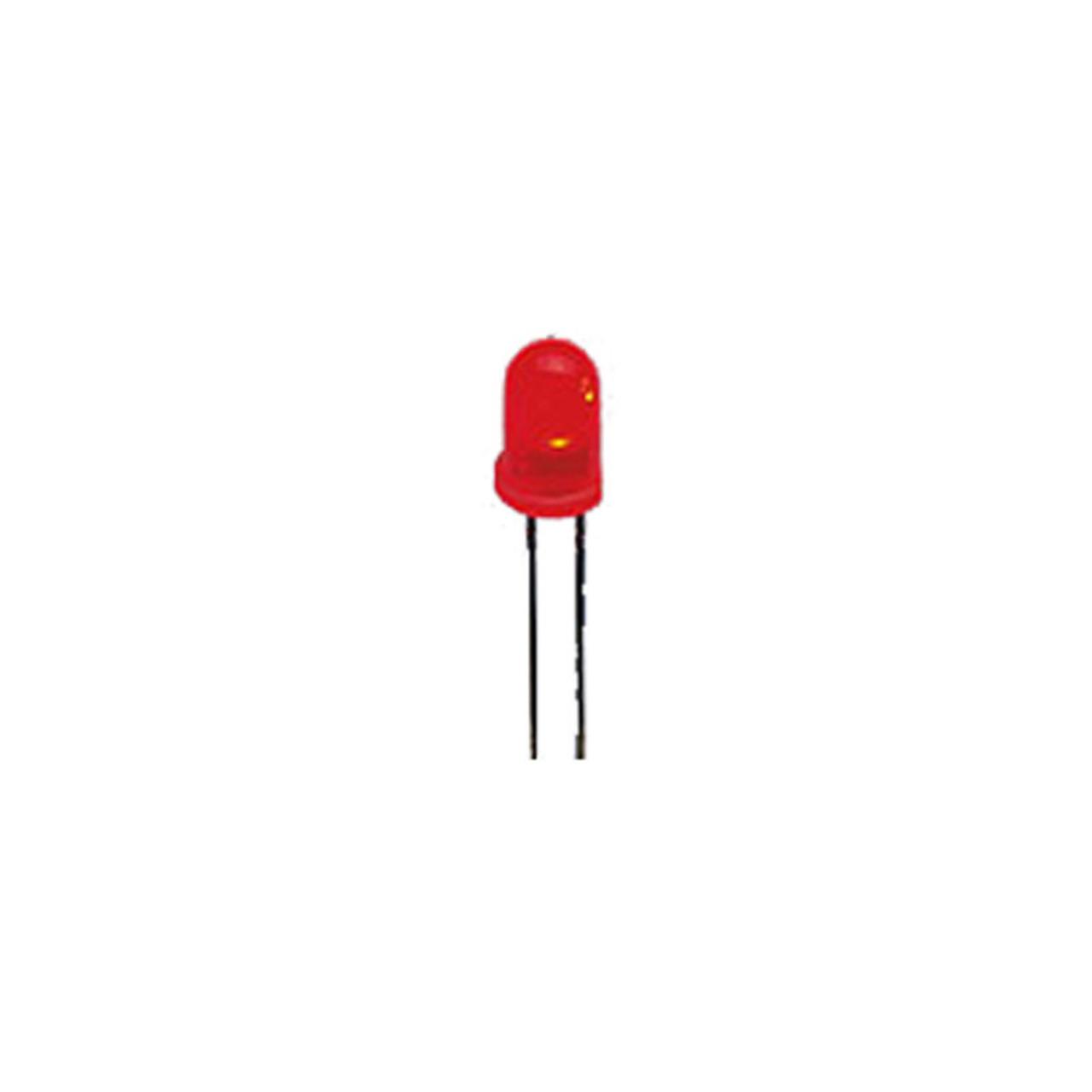 Superhelle 5 mm LED- Rot- 6-500 mcd- 70 Stück