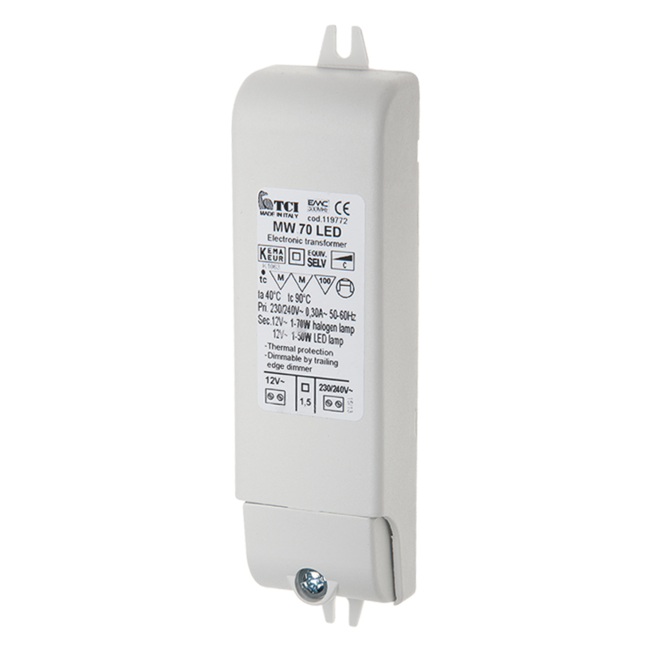 TCI 2-5-70-W-LED-Netzteil- 12 V AC