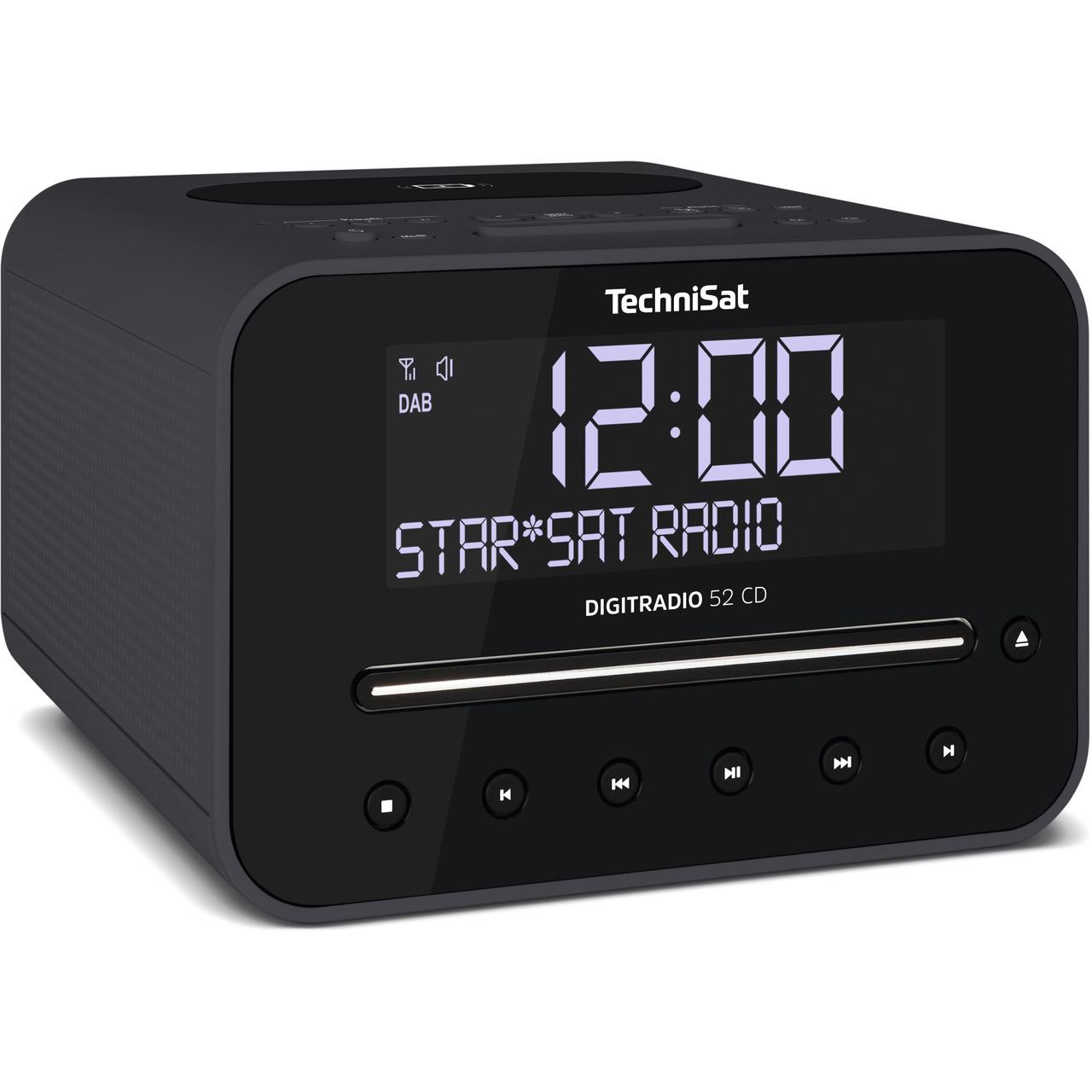 TechniSat DigitRadio 52 CD- mit DAB+-UKW-Empfang- CD-Player und Bluetooth-Funktion