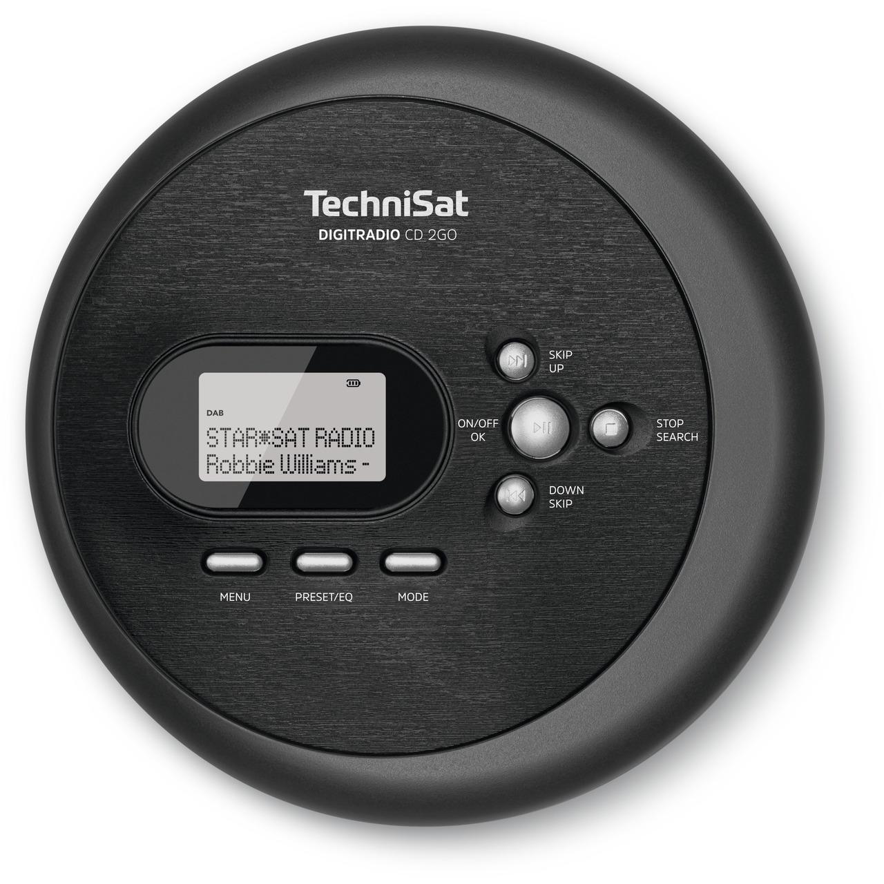 TechniSat Portabler CD-Player DIGITRADIO CD 2GO- mit DAB+ und UKW-Radio- inkl- Kopfhörer
