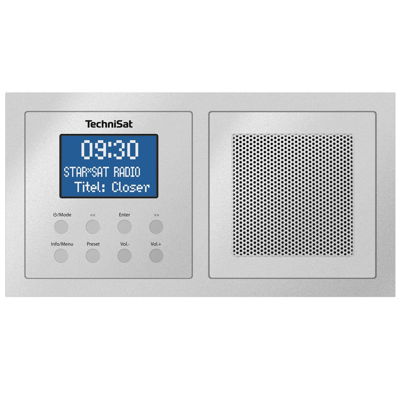 TechniSat Unterputzradio DigitRadio UP 1- DAB+-UKW-Radio- Bluetooth- mit Lautsprecher- silber