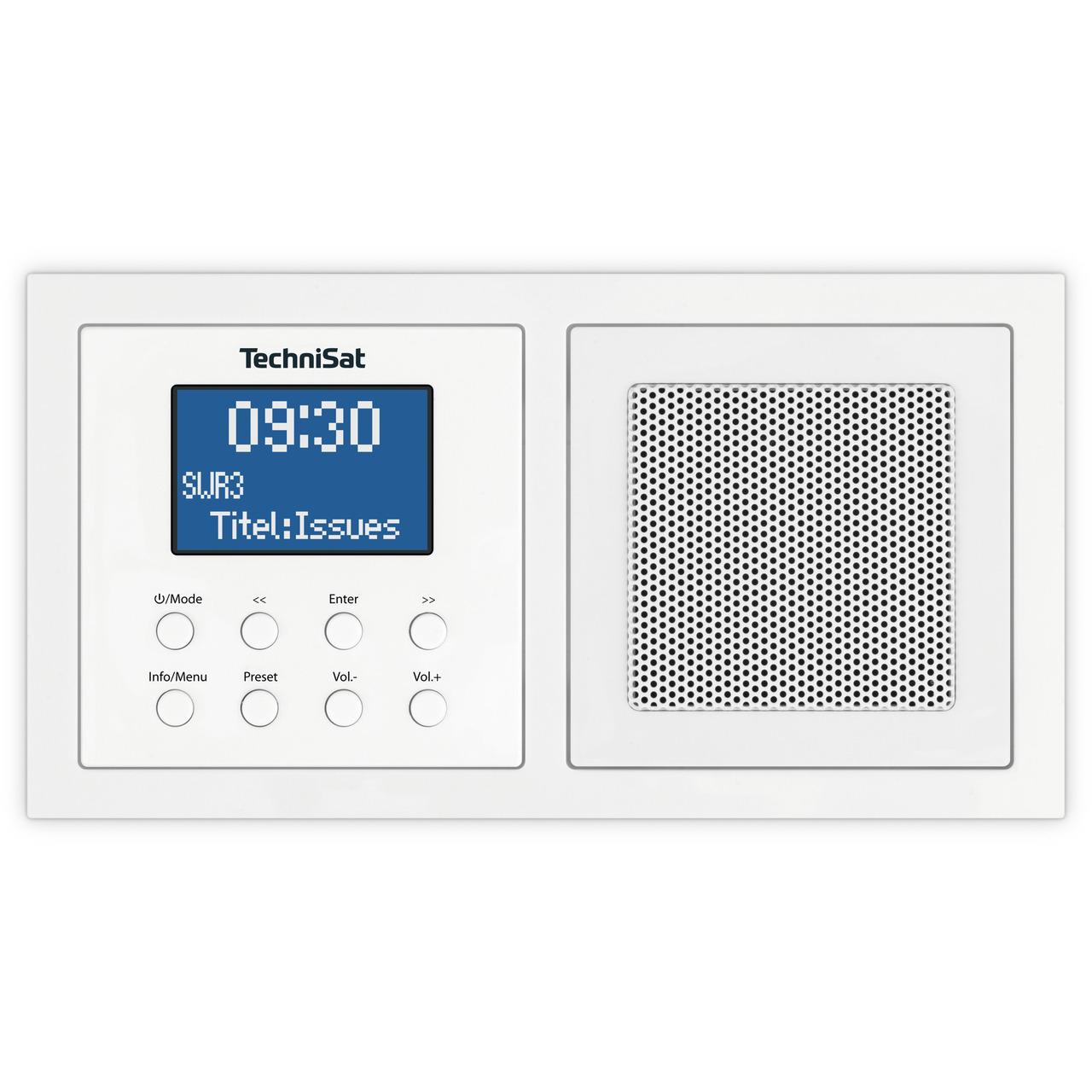 TechniSat Unterputzradio DigitRadio UP 1- DAB+-UKW-Radio- Bluetooth- mit Lautsprecher- weiund-223