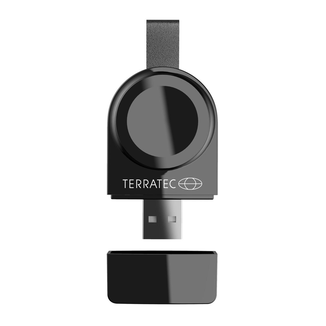 TerraTec Kabellose Ladestation ChargeAIR Watch- USB-Ladespot für Apple Watch Series 1- 2- 3- 4 und 5