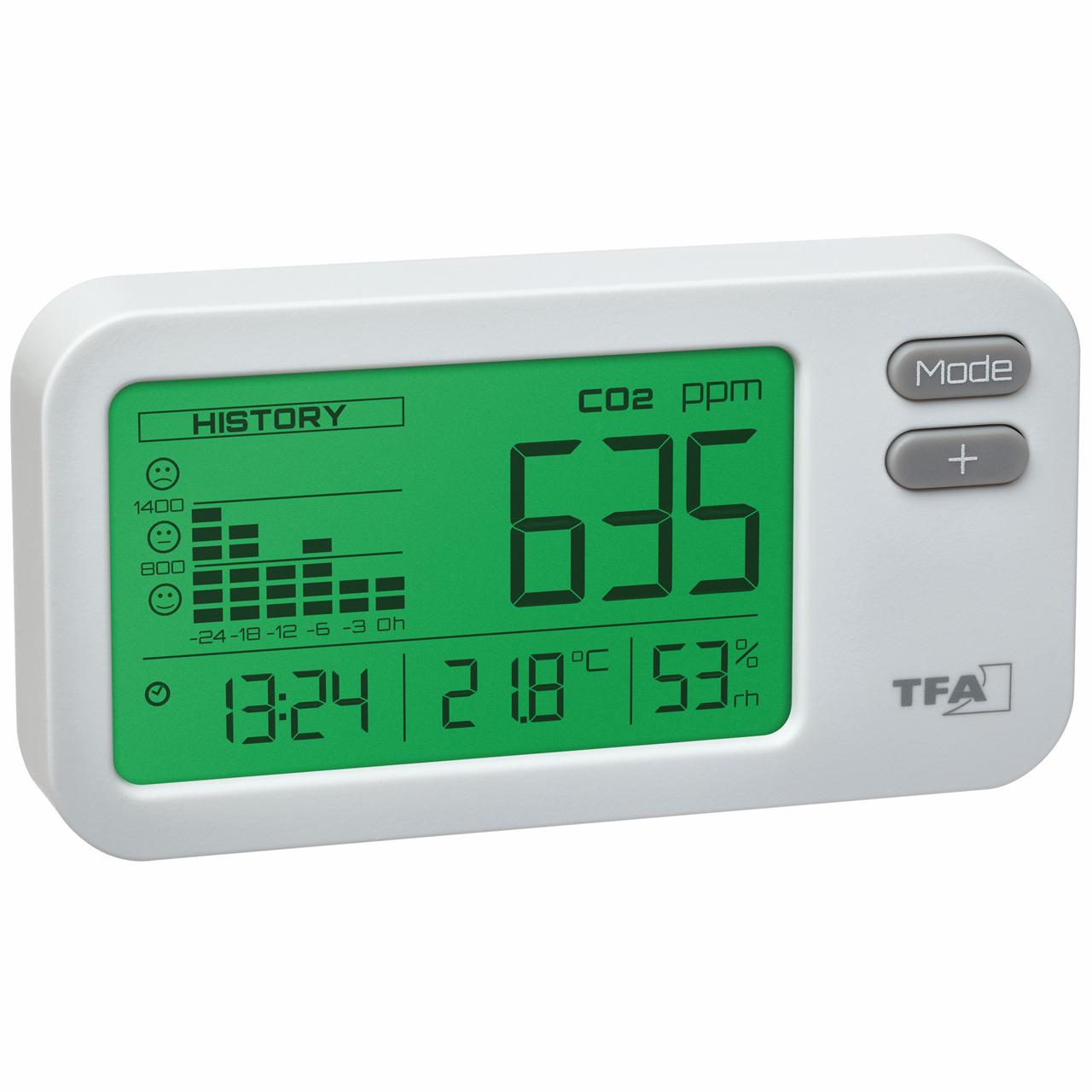 TFA CO2-Messgerät AirControl COACH- 24-h-Historie