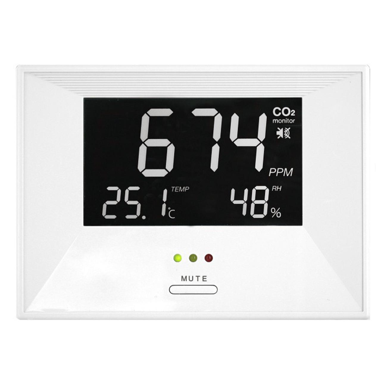 TFA CO2-Messgerät - CO2-Anzeige AirControl LIFE- Kohlendioxid- mit LED-Ampel und Alarm-Funktion