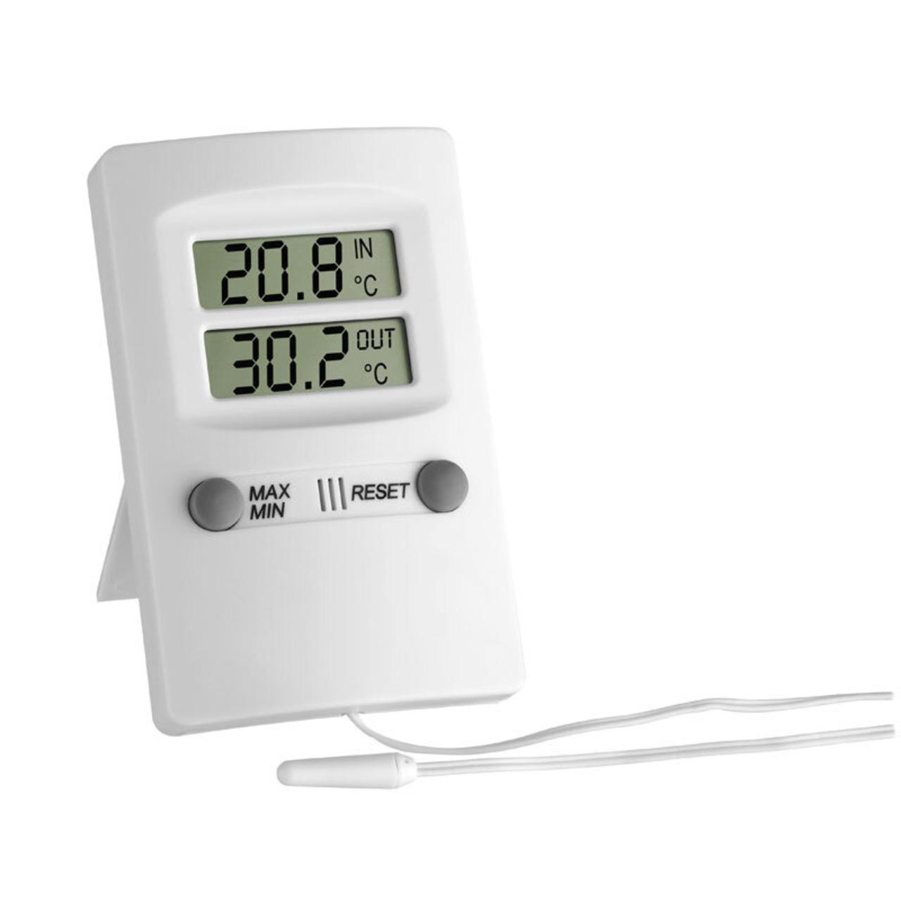 TFA Elektronisches Minima-Maxima-Thermometer- weiss