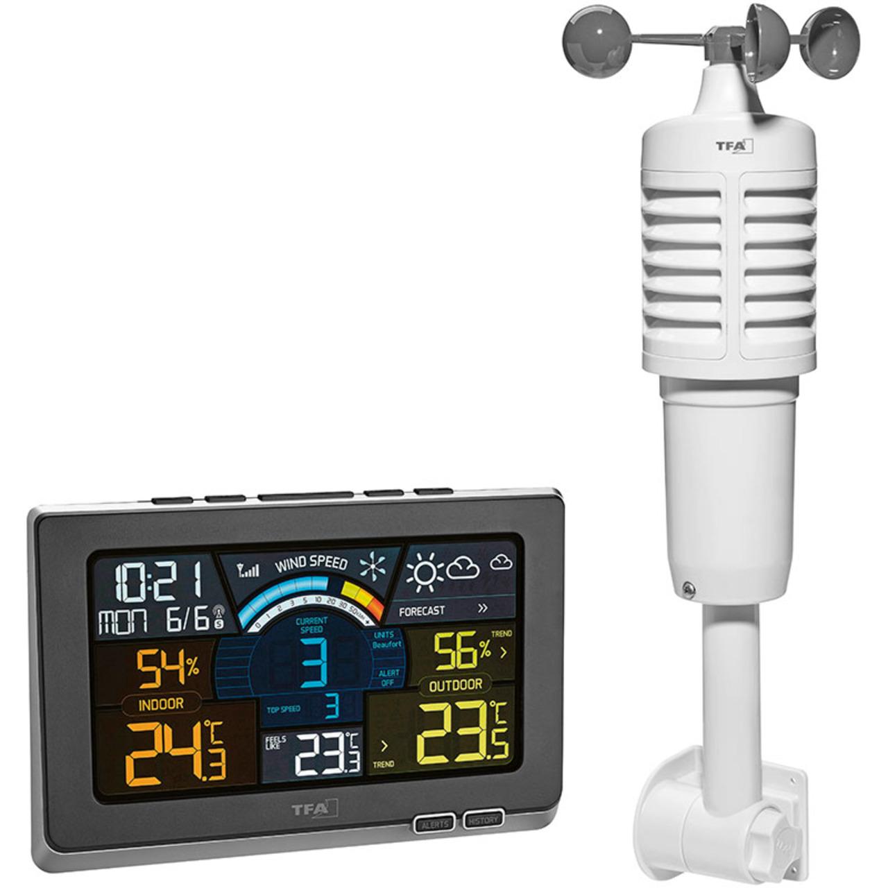 TFA Funk-Wetterstation Spring Breeze- inkl- Windmesser und Thermo-Hygrosensor
