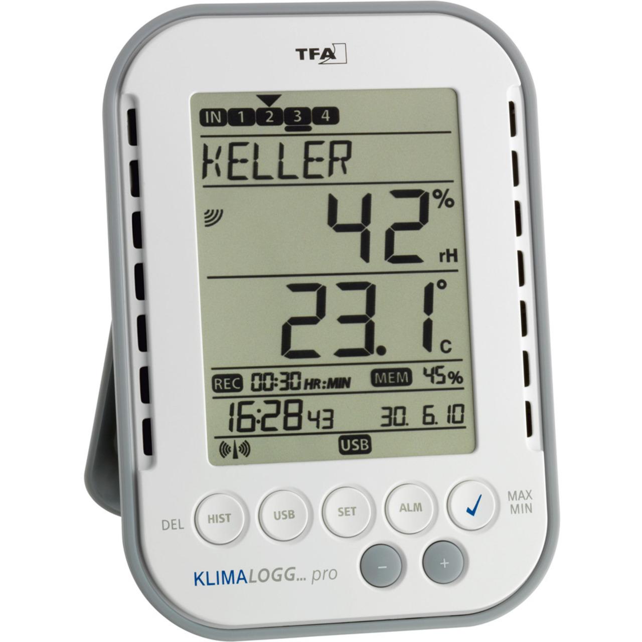 TFA Profi-Thermo-Hygrometer KlimaLogg Pro- mit Datenlogger-Funktion
