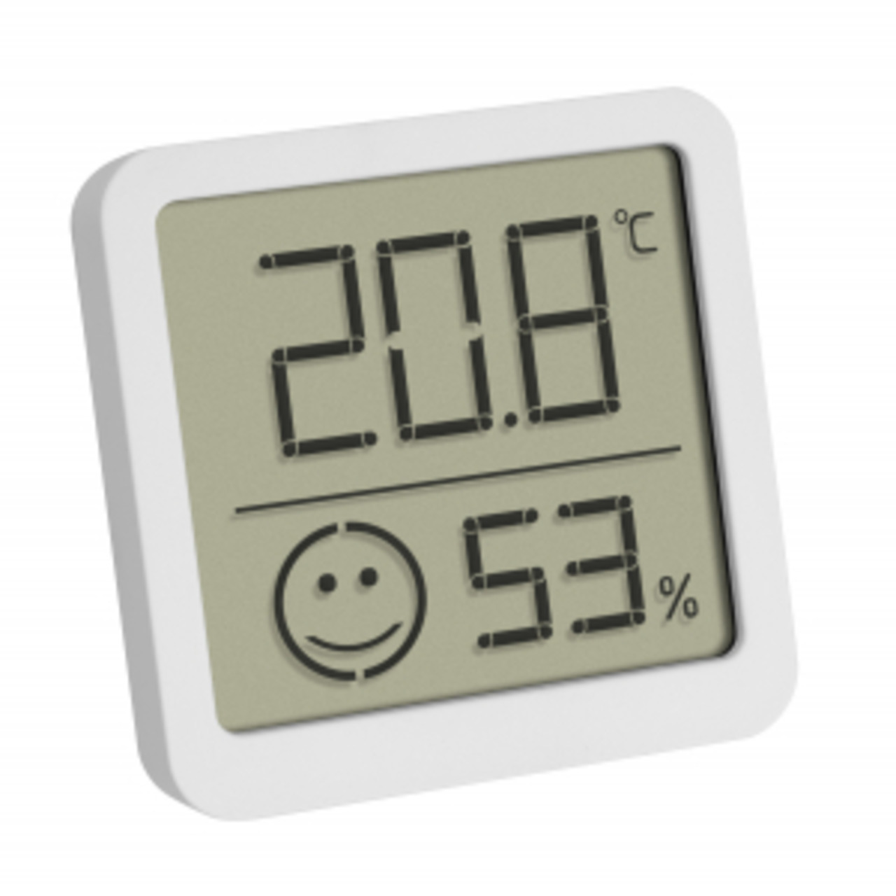 TFA Thermo-Hygrometer mit Smiley-Klimakomfortanzeige