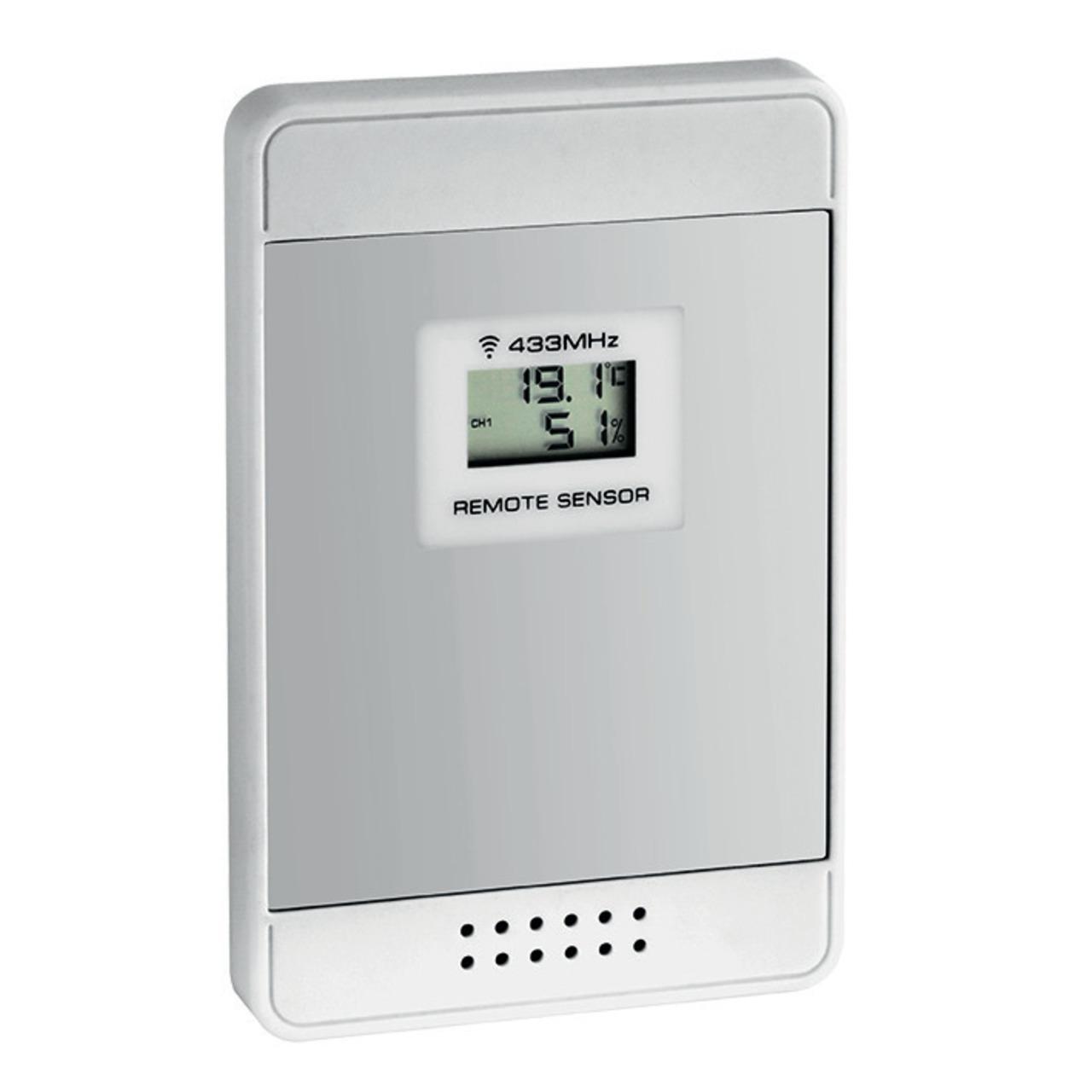 TFA Zusatz-Temperatur-Luftfeuchtesensor fund-252 r die Funk-Wetterstation MULTY