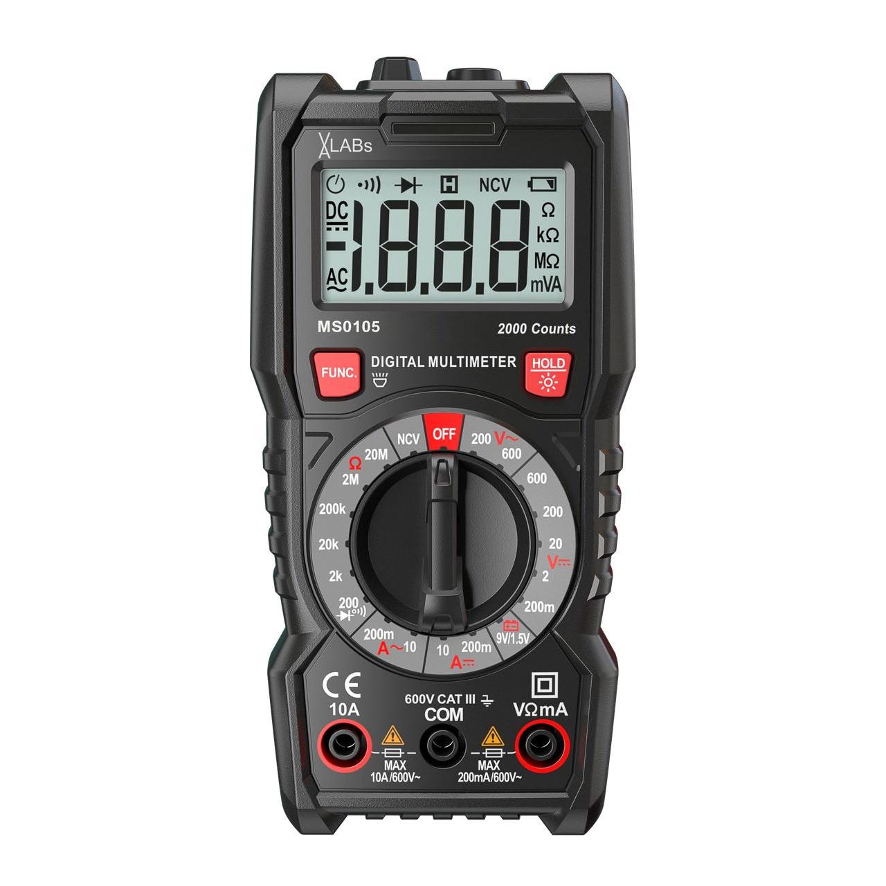 VA-LABs Digital-Multimeter- 2-000 Counts