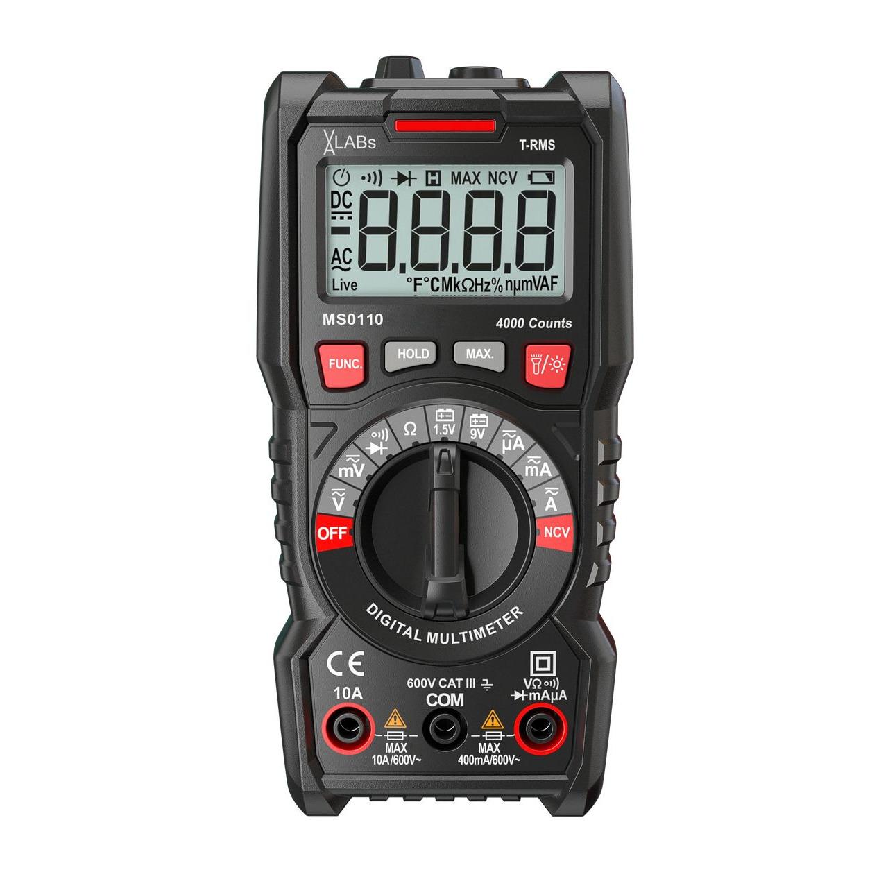 VA-LABs TrueRMS Digital-Multimeter- 4-000 Counts