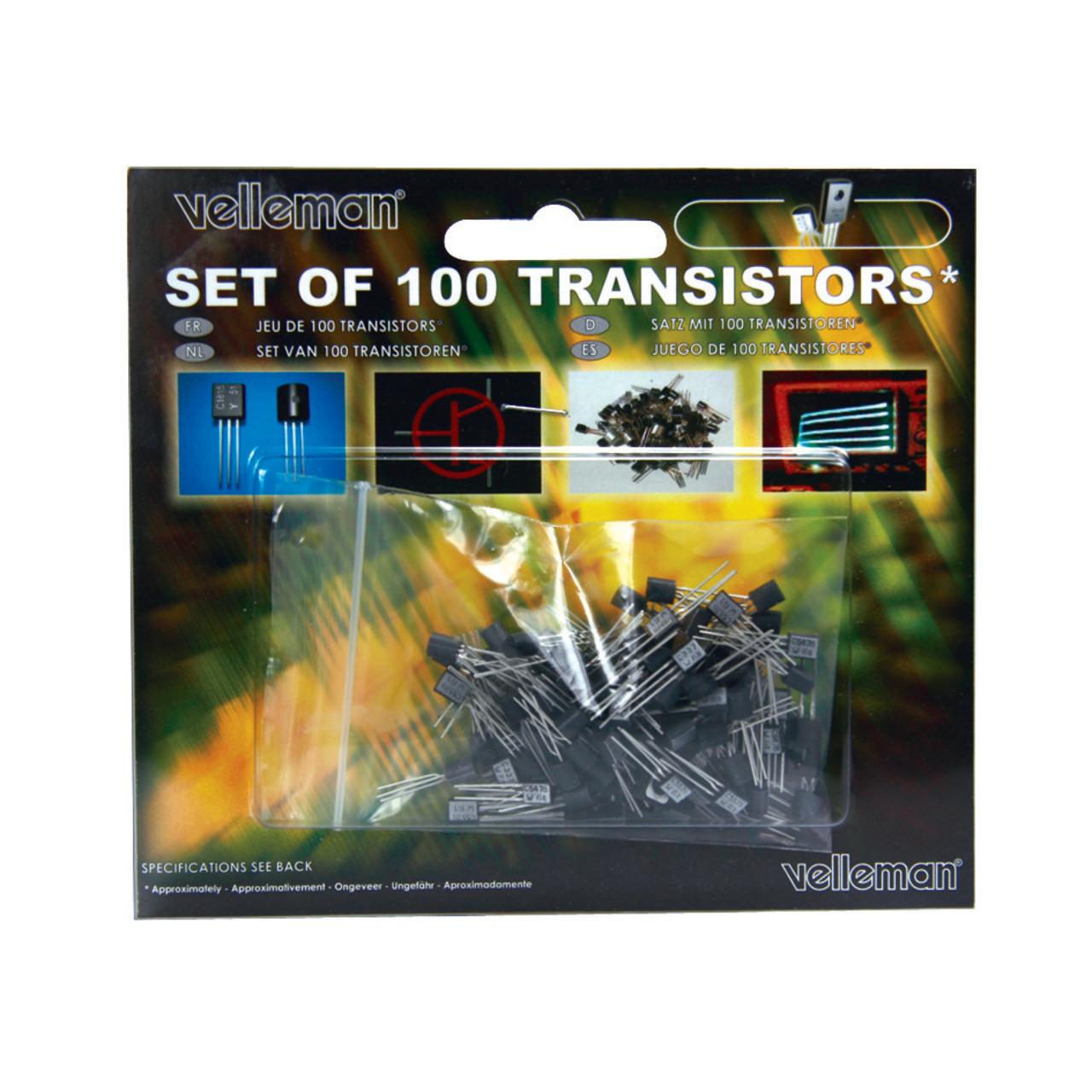 Velleman Transistoren-Set K-TRANS1- 100 teilig