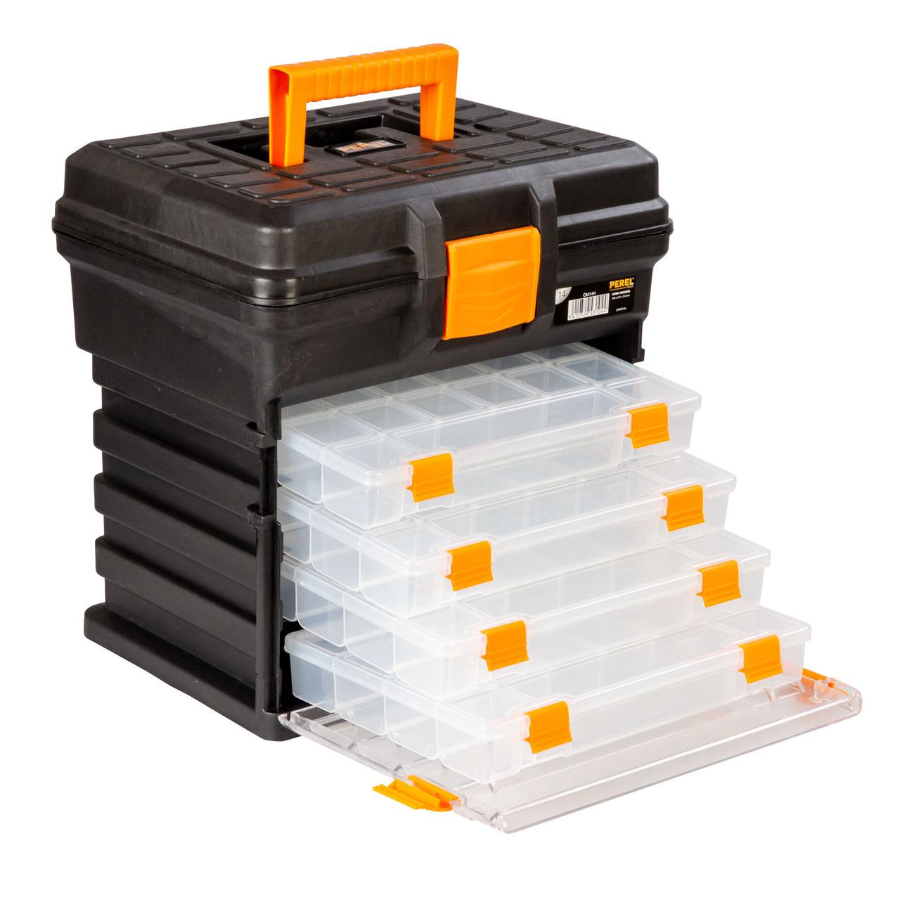 Velleman Werkzeugbox ground-223 - mit 4 entnehmbaren Aufbewahrungsboxen