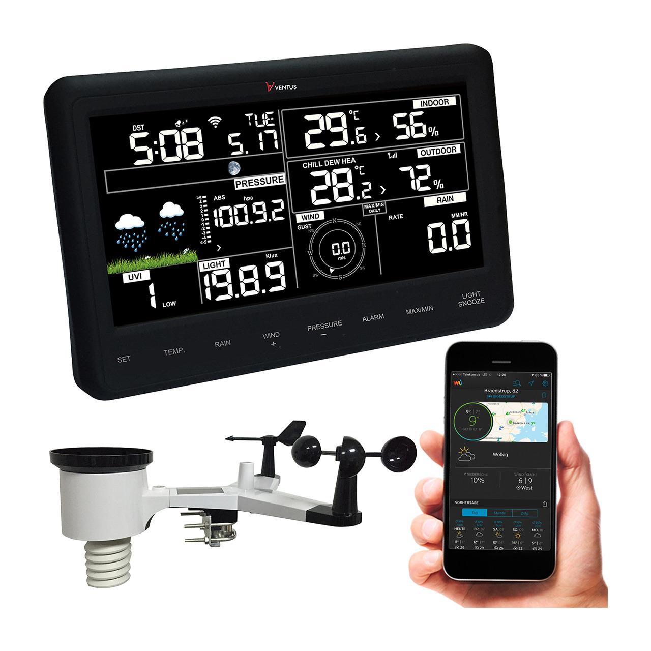 Ventus WiFi-Wetterstation W830- inkl- Sensorset