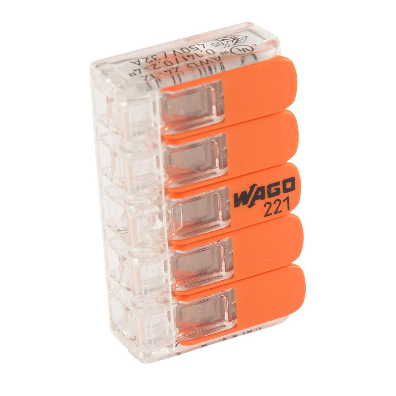 Wago 221-415 COMPACT Verbindungsklemme 5x 4 mm- 25 Stück