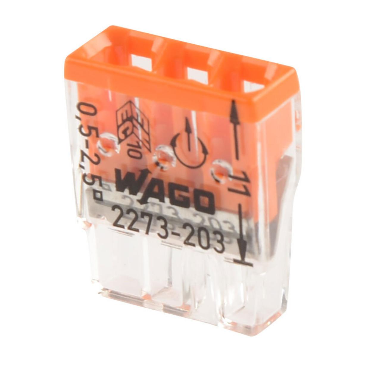Wago Compact 2273-203 Verbindungsklemme- 3pol- 100 Stück