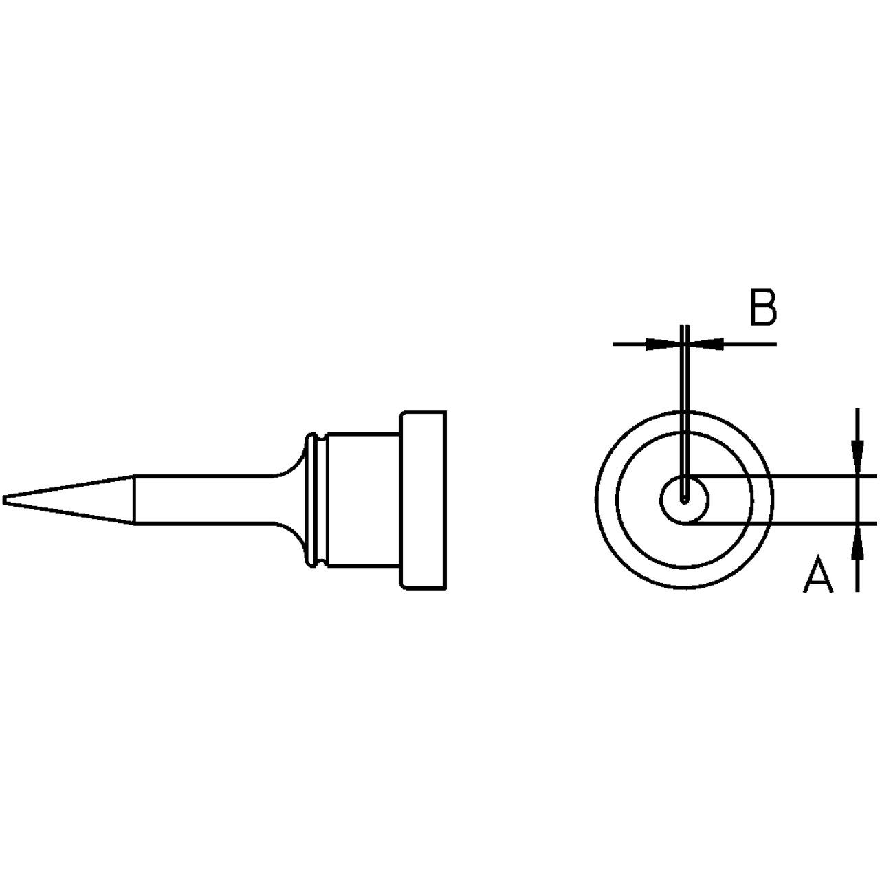 Weller Ersatzlötspitze LT 1S- bleistiftspitz- - - 0-2 mm