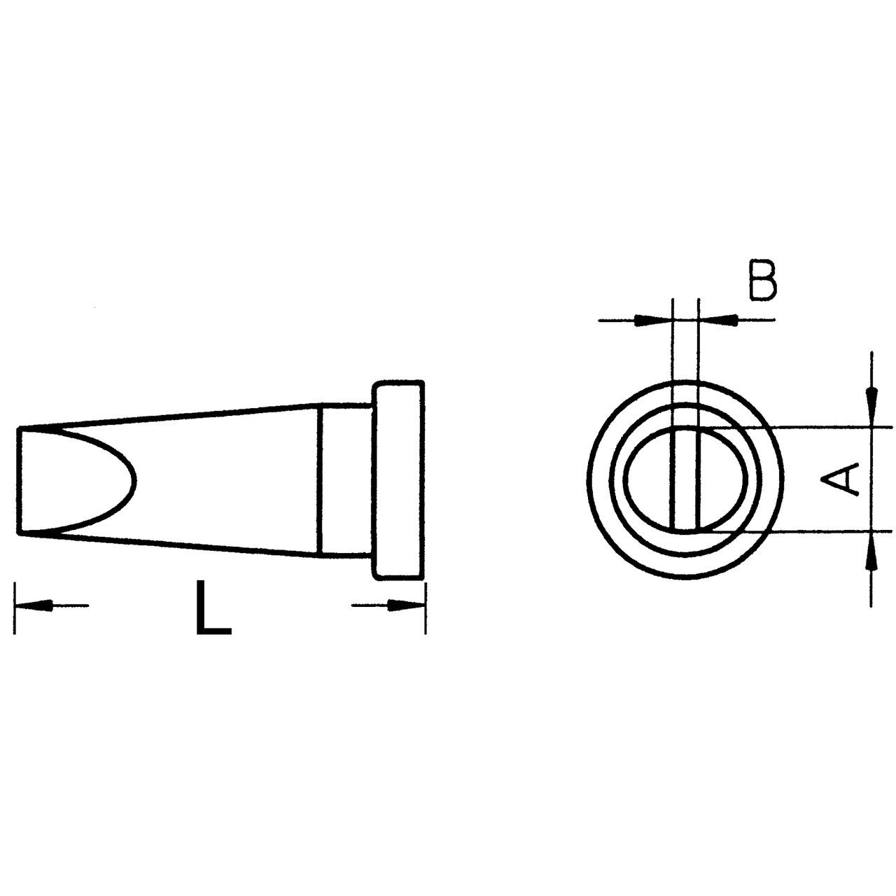 Weller Ersatzlötspitze LT A- meisselförmig- Spitze 1-6 mm breit