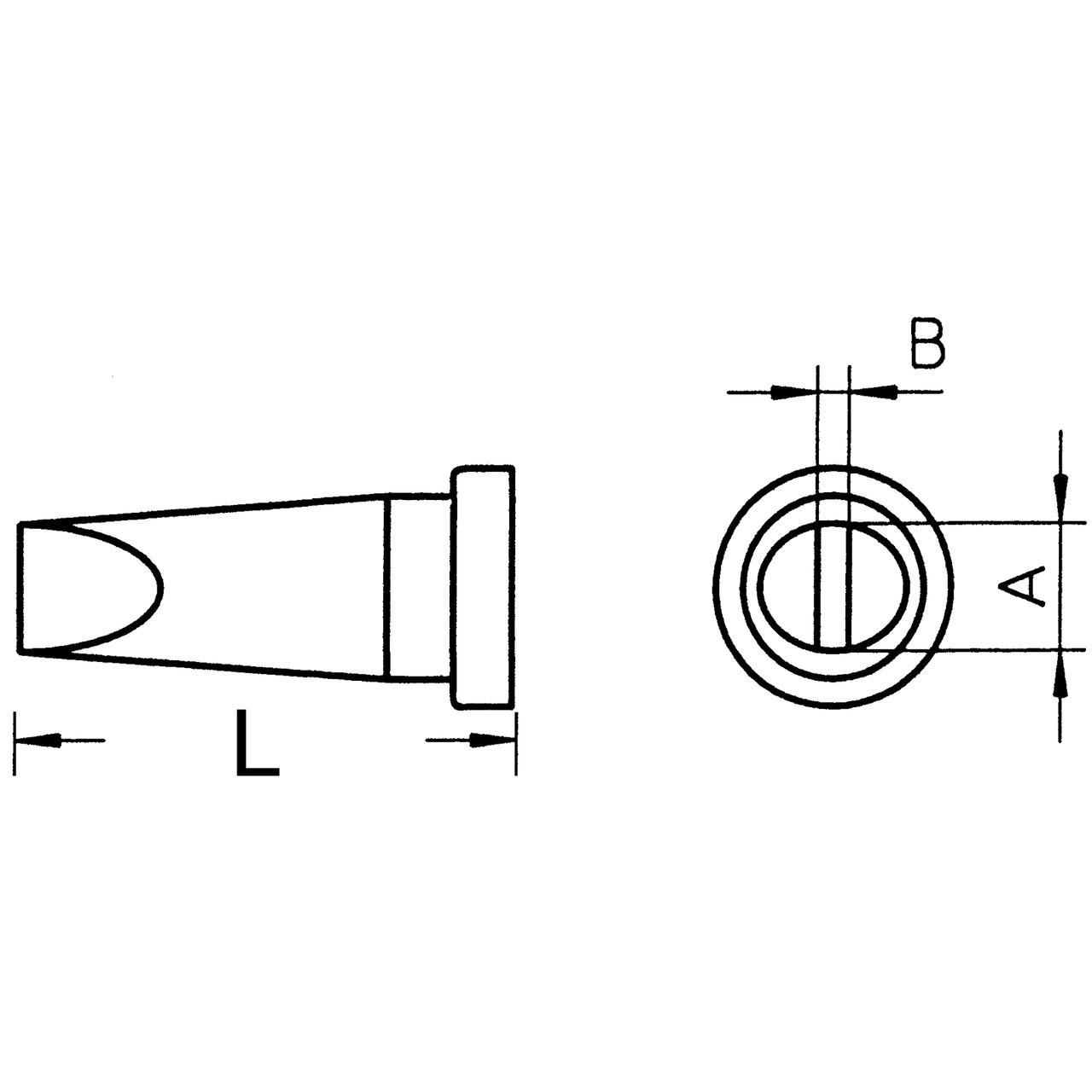 Weller Ersatzlötspitze LT B- meisselförmig- Spitze 2-4 mm breit