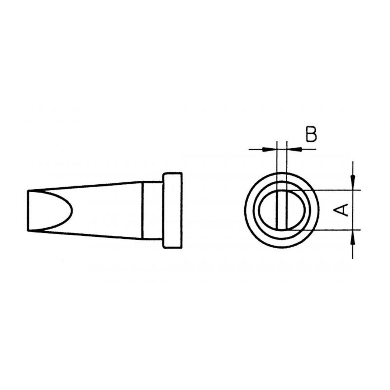 Weller Ersatzlötspitze LT C- meisselförmig- Spitze 3-2 mm breit
