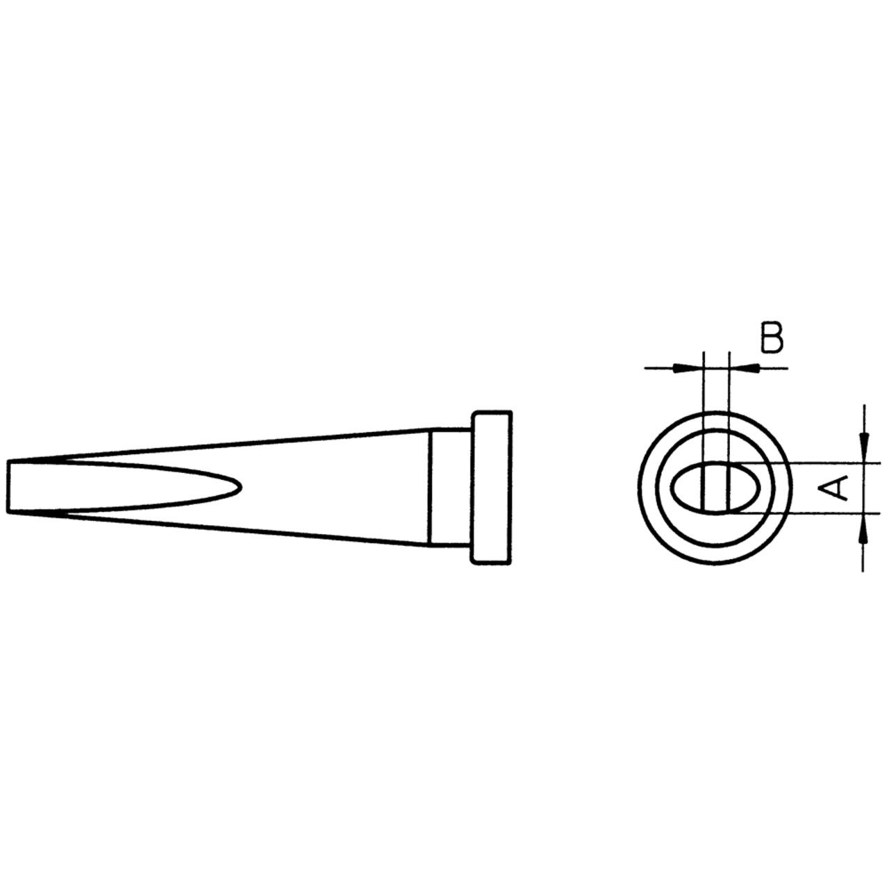 Weller Ersatzlötspitze LT K- meisselförmig- Spitze 1-2 mm breit
