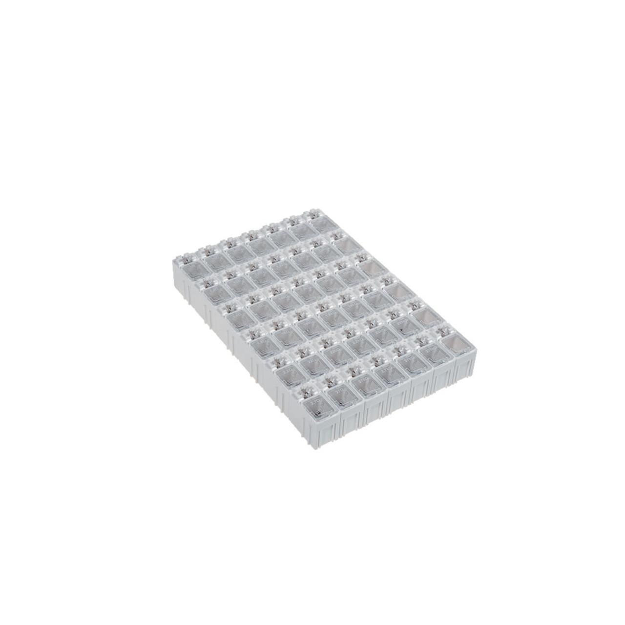 Widerstands-Sortiment in SMD-Sortierbox- gefüllt mit je 50 Widerständen 0 Ohm - 1 MOhm- 0805
