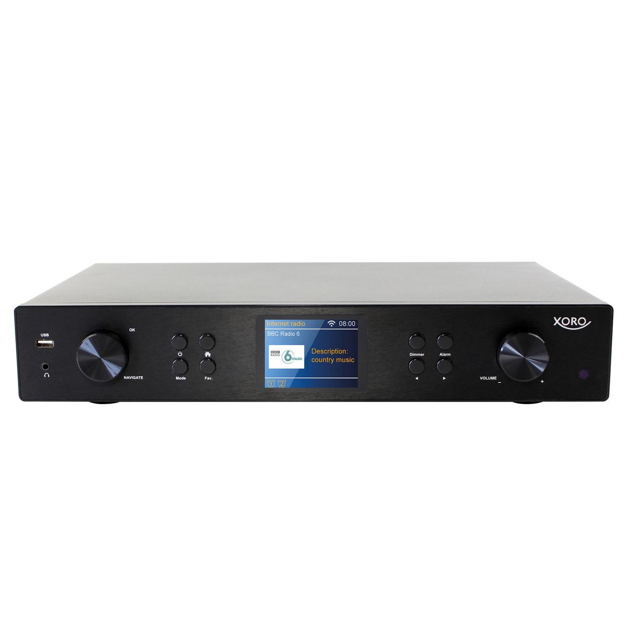 XORO Radio-Hi-Fi-Tuner HFT 440- DAB+-UKW-Internetradio- USB- Bluetooth- Spotify- App